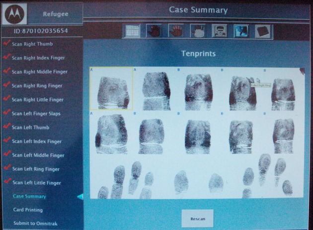 POLITICS - FOREIGNERS - FINGERPRINT